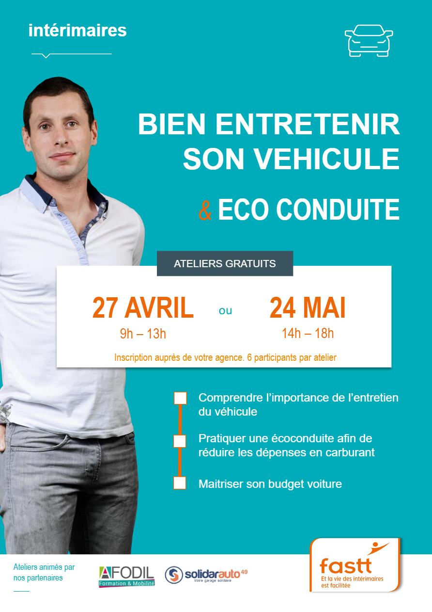 ATELIERS   Entretien véhicule et éco-conduite pour les intérimaires